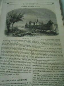 Le Chateau De Wadstena En Suède 1847 Gravure Print Article