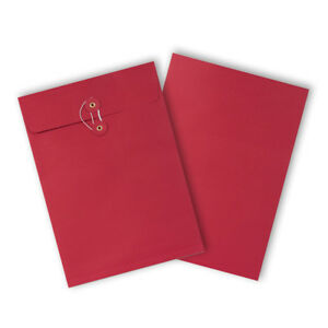 Strong-String-amp-Washer-Bottom-Tie-Storage-Envelopes-Red-A4-C4-Sizes-Cheap
