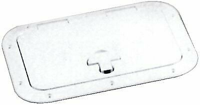 Flush mounting Off-White Molded Low  Profile Hatch w  Stainless Steel Hinge Pins  discounts and more