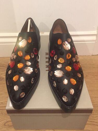 eu red Crystal Black Moccasins Embellished 6 Loafers 39 Marni £760 Uk d58qpnxwqR