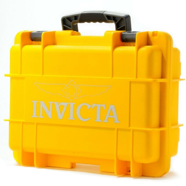 Invicta 8 Eight Slot Impact Yellow Dive Collector Box Case DC8YEL