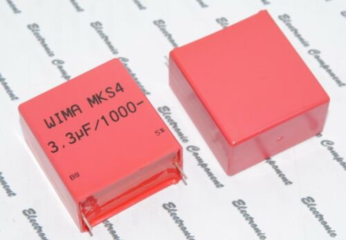 1000V 5/% pich:37.5mm Capacitor WIMA MKS4 3.3uF 3.3µF 3.3uF 1pcs
