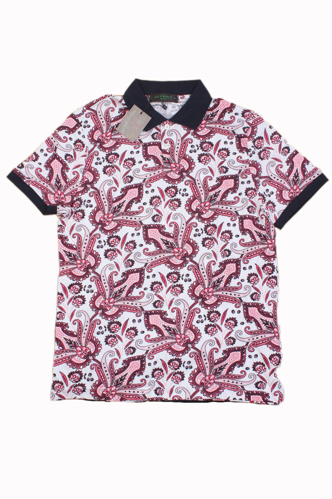 Brand New  Embellished Tee, Multi-Farbe Etro Short Sleeve Polo T-Shirt Größe-M