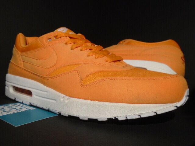 Nike Air Max 1 Men Round Toe Synthetic Orange Running Shoe 10