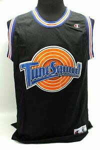 official photos 92701 13aae Details about Space Jam #23 Jordan Tunes Squad Champion Black Basketball  Jersey - Adult Large