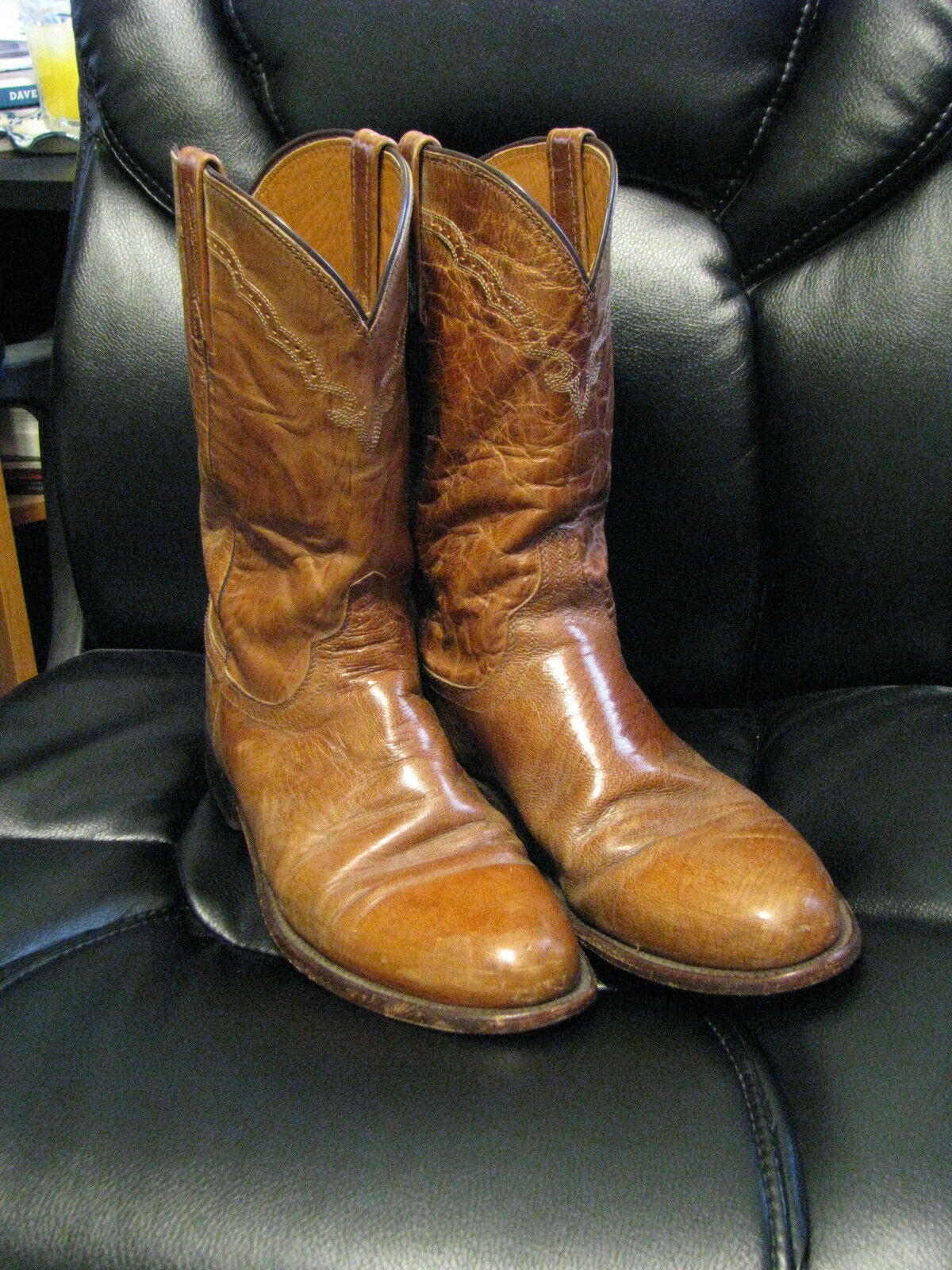 Lucchese Tan Cowboy Stiefel 9D ( 1)