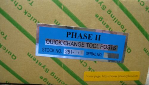 Phase 2 II Quick Change Tool Post Set 5 Holders Wedge Style 251-111 Aloris AXA