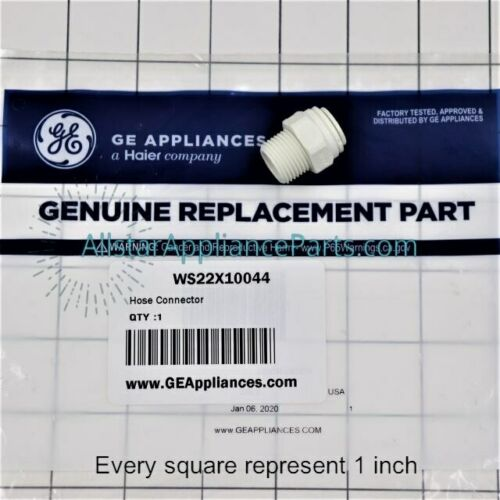 GE Water Filtration System Hose Connector WS22X10044