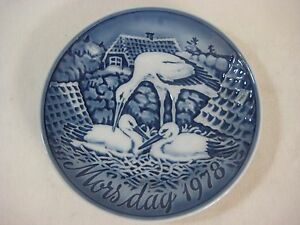 "1978 Grande Danica Mors Day Mother's Day Plate, Made In Denmark, 6 1/4"" Diameter"