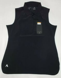 NEW-Antigua-Women-039-s-Sleeveless-Trust-Desert-Dry-Golf-Polo-Shirt-Black-Size-M