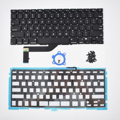 "OEM Keyboard for Apple Macbook Pro 15/""Retina A1398 2012-2015 backlight Screws US"