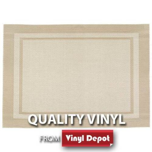 d-c-fix Table Pad Kitchen Dining Coaster Square Beige Decor Placemat Set of 2