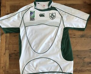 Details about IRB Rugby World Cup 2007 Ireland Mens Medium Jersey White  Sewn Canterbury of NZ