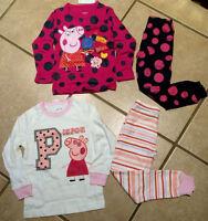 Girls Peppa Pig Pajama Pj 2-pc Crazy Dot Organic Cotton Size 2t Last One