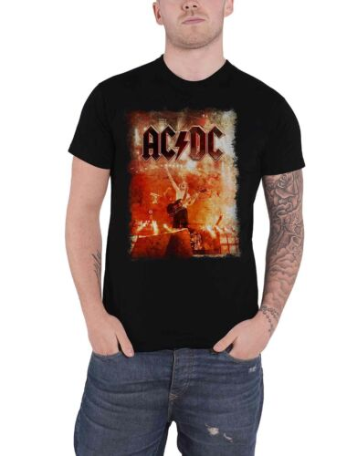 AC//DC T Shirt Live Canons Band Logo new Official Mens Black