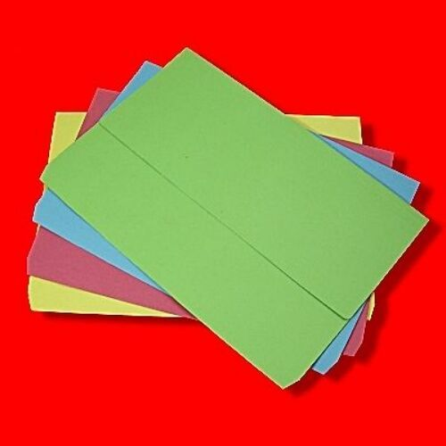 12 x DOCUMENT WALLETS FILING FOLDERS CARD FOOLSCAP/A4 FILES ASSORTED COLOURS
