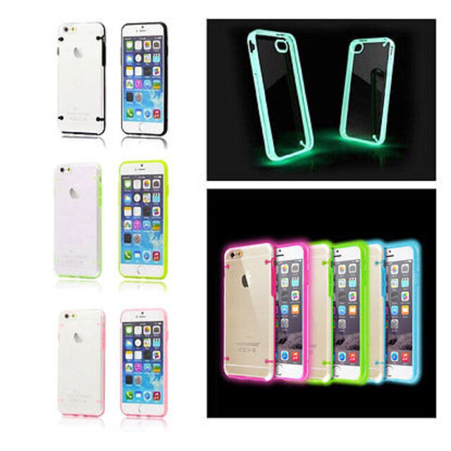 Thin Transparent Skin Hybrid Case Cover Luminous Glow For iPhone 4s/5s/6s/6Plus