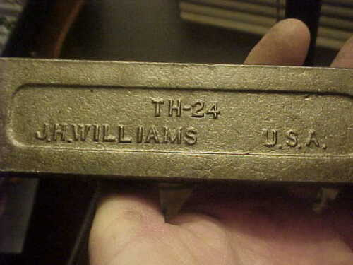 NIB Williams TH 24 Lathe Parting Tool Holder With Blade /& Wrench Cut Off USA