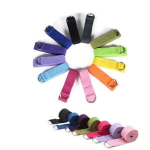 Yoga-Belt-Band-Stretching-Strap-Resistance-Cotton-D-Ring-Adjustable-183x3-8cm