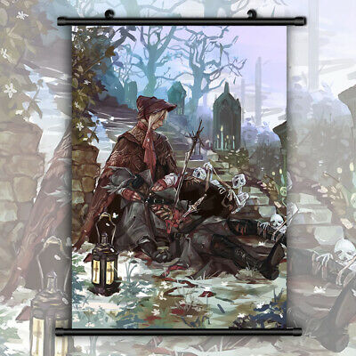 Bloodborne Canvas Print Wall Poster Scroll Room Decor