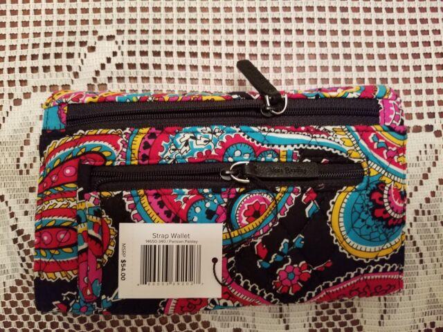 ce56cd279 New VERA BRADLEY Retired Parisian Paisley Strap Wallet or Crossbody Bag  Purse