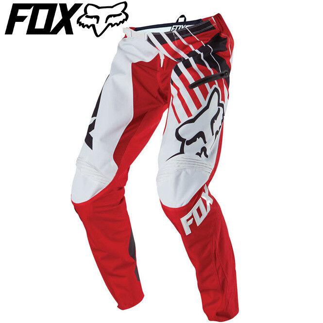 Fox Demo Savant DH ciclismo Pants  rossobianca  Diuominiiones 32, 34, 36, 38