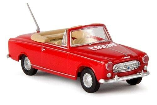 "Peugeot 403 cabriolet Brekina Echelle 1//87 1956 H0 rouge /""L/'Equipe/"""