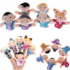 6 x Family Finger Puppets Play Game Tell Story Plush Cloth Baby Kids Toy Gift