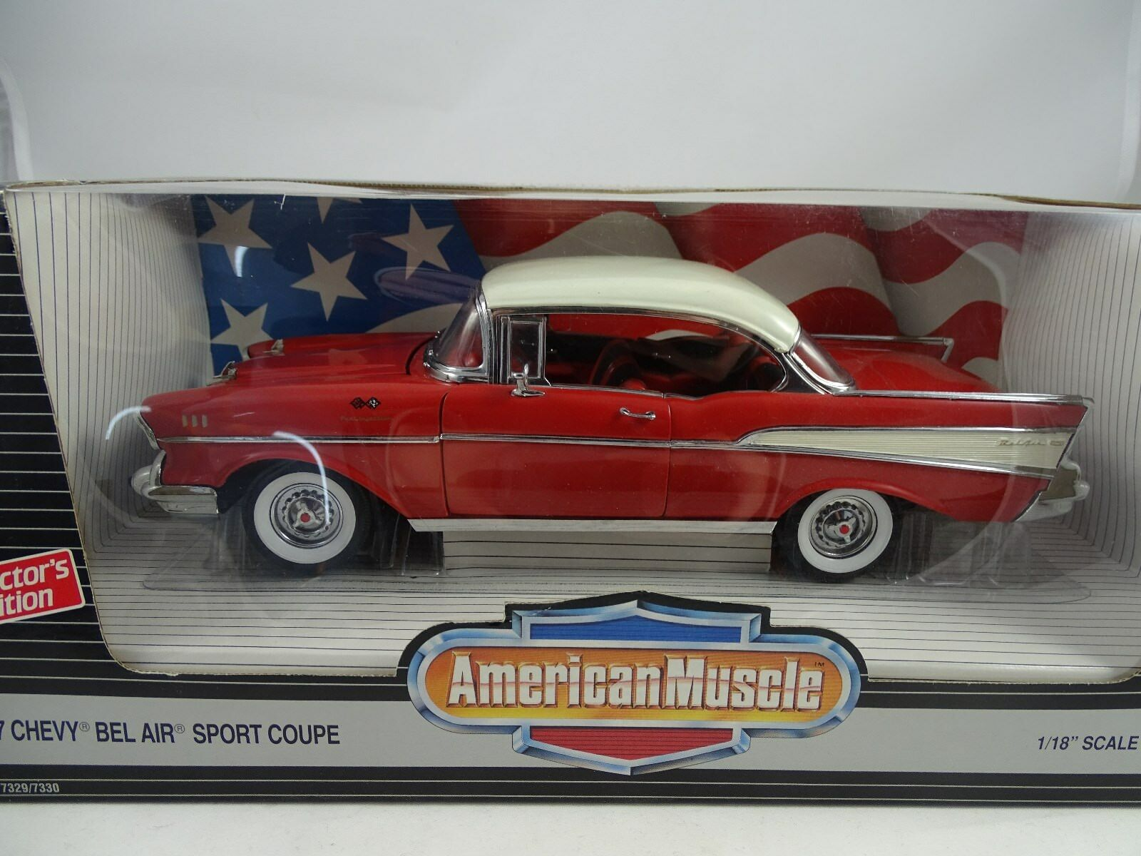 1 18 ertl Chevy Bel Air Sport Coupe rosso bianca-rareza
