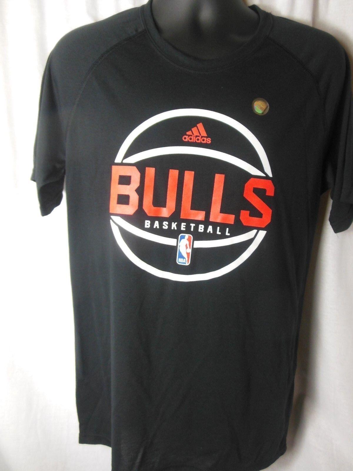 Camisa Adidas Climalite para hombre de los Chicago Bulls