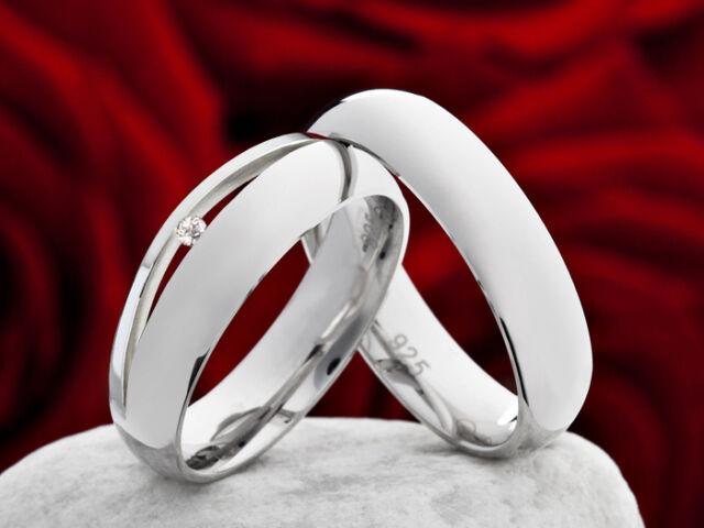 Eheringe Trauringe Verlobungsringe mit echtem Brillanten Ring Gravur SPB0100