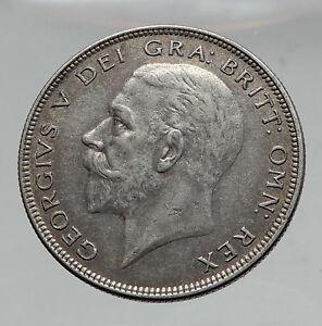 1936-Great-Britain-United-Kingdom-UK-King-GEORGE-V-Silver-Half-Crown-Coin-i63541