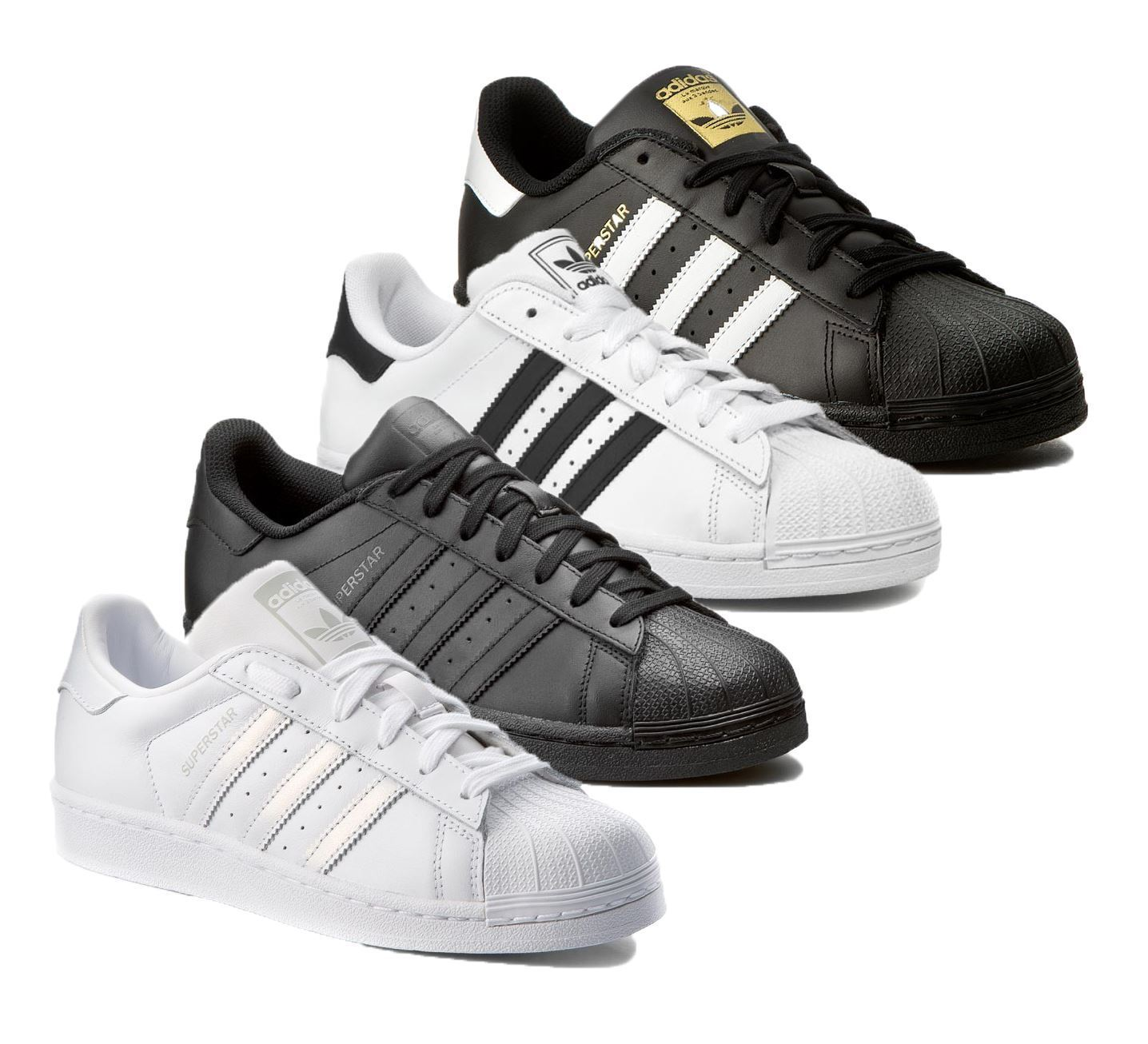 Adidas Originals Mens Superstar New Leather Trainers Sports Sneakers