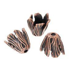10x Perlenkappen Perlkappen Endkappen filigran Blumen für 14 mm Perlen Metall