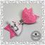 """Bow Clips 3.5/"""" Pink Hair Clips Cute Pink Panda Glitter Hair Bows"""