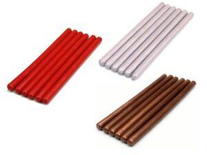 6-Sticks-Siegelwachs-7-mm-fuer-Heissklebepistole-Siegel-Wachs-rot-gelb-orange
