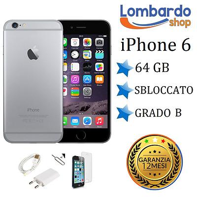 APPLE IPHONE 6 64GB GRADO B NERO SPACE GREY ORIGINALE RIGENERATO RICONDIZIONATO