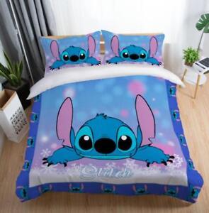 3D-Purple-Stitch-Disney-Kids-Bedding-Set-Duvet-Cover-Pillowcase-Comforter-Cover