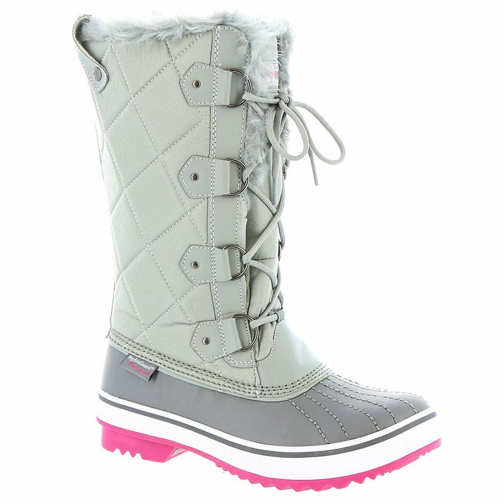 Women's Skechers Tall Quilted Boots Gray / Pink Size 9 #RN759-974