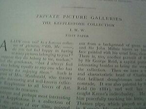 book article 1897  private picture galleries the kepplestone collection - Leicester, United Kingdom - book article 1897  private picture galleries the kepplestone collection - Leicester, United Kingdom