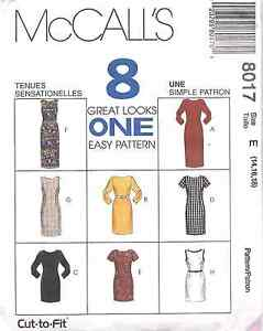8017-Vintage-McCalls-SEWING-Pattern-Misses-Eight-EASY-Dresses-UNCUT-OOP-SEW-FF