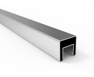 Details about Stainless Steel Square Slotted Tube 316G Satin 40 x 40mm -  for Glass Balustrade