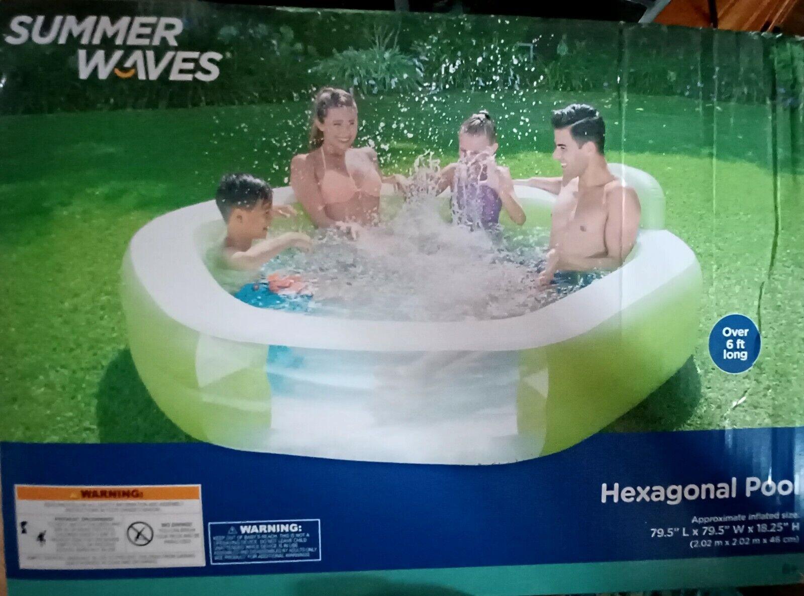 Summer Wave Hexagonal Family Pool 6ft+
