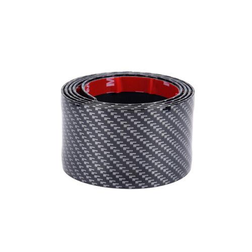 Car Sticker Carbon Fiber Rubber DIY Door Sill Protector Edge Guard Strip 0-YEDE