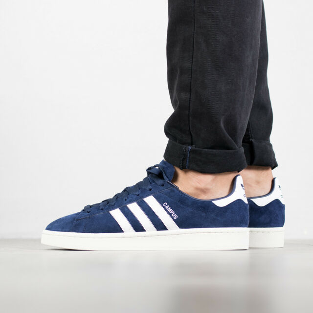 b34aa9ceb280 adidas Originals Campus Suede Dark Blue White Chalk Men Classic ...
