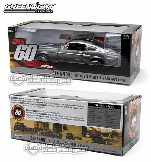 Gone in 60 seconds Chrono Eleanor 1967 Ford Mustang Shelby 1/18 12909 verdelight