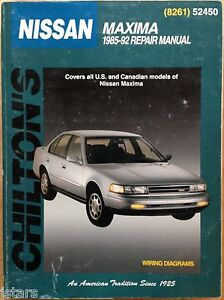 1985 1986 1987 1988 1989 1990 1991 1992 nissan maxima repair manual rh ebay co uk 1990 nissan sentra service manual pdf Nissan Murano