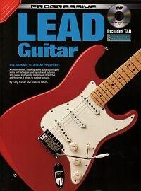 Progressive Lead Guitar Book & Cd-afficher Le Titre D'origine Qualité Et Quantité AssuréE