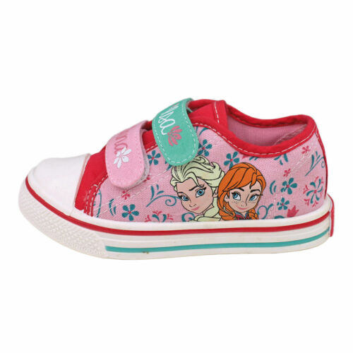 Canvas shoes sneakers Frozen Anna and Elsa trainers cerise pink lilac