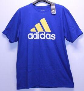 verdadero negocio fábrica auténtica garantía de alta calidad Adidas Collection Royal Blue Yellow The Go To Tee T-Shirt Men's ...